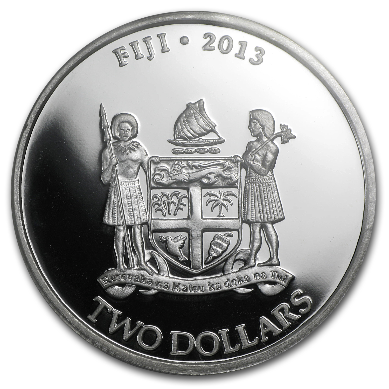 2013 1 oz Silver $2 Fiji Taku Fine MS-70 PCGS First Strike